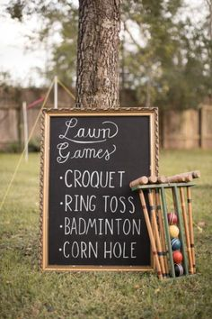 Now that we've decided on a reception venue with outdoor space... lawn games!