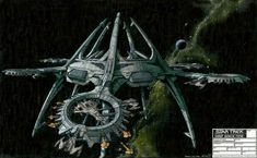 Production design for the Cardassian ship yards. Never used. But massive!  #startrek  #deepspacenine  #cardassians