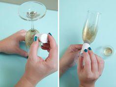 DIY | glam champagne glasses - Something Turquoise {daily bridal inspiration}