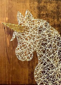 String Art Unicorn String Art String Art Sign by ThreadTherapy1