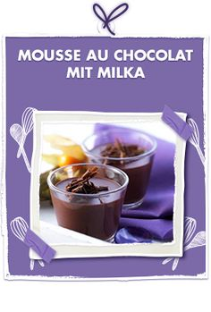 Mousse au Chocolat mit Milka