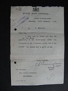WW1 ANZAC SERVICEMAN J Maxwell of RICHMOND