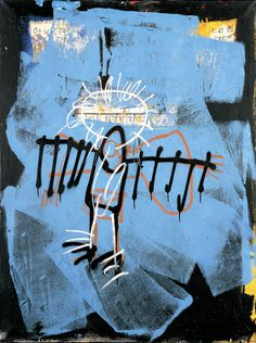 Art by Jean-Michel Basquiat Maya Angelou, Jean Basquiat, Jean Michel Basquiat Art, Image Bleu, Basquiat Paintings, Radiant Child, Graffiti Kunst, Banksy, Art Brut