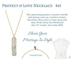 Protect &I Love Necklace