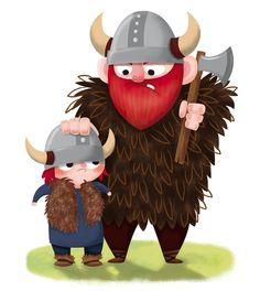 Dad & Son Viking by Katia De Conti, via Behance