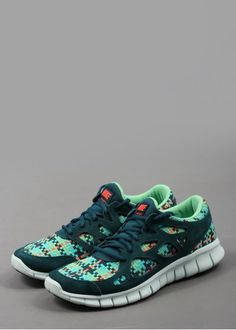 Nike Free Run 2 Woven: Sport Turquoise / Mid Turquoise