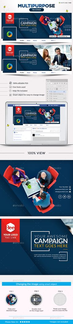 Multipurpose Facebook Cover Template PSD. Download here: http://graphicriver.net/item/multipurpose-facebook-cover/16145617?ref=ksioks