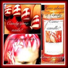 Candy Cane!  Scented candle by www.jewelrycandles.com
