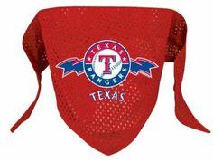 Hunter MFG Texas Rangers MLB Mesh Bandana for Dogs, Small - http://www.thepuppy.org/hunter-mfg-texas-rangers-mlb-mesh-bandana-for-dogs-small/