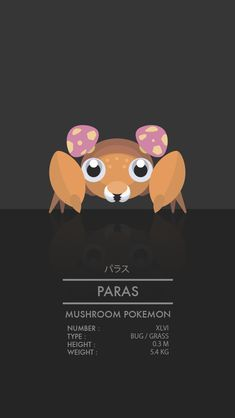 Paras by WEAPONIX on deviantART