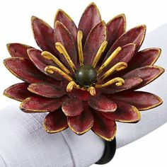 Mum Napkin Ring  We need new napkin rings and this is nice color