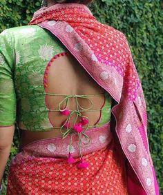 30 Latest Blouse Back Neck Designs In 2019 Blouse Back Neck Designs, Saree Blouse Designs, Designer Blouse Patterns, Sari Blouse, Bodysuit Fashion, Sarees, Wedding Planner, Blouses, Gallery