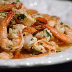Grilled Shrimp Scampi - Allrecipes.com (leave out garlic)