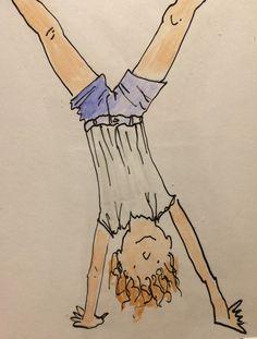 Hang on! #illustration #ink #watercolour @SuzanvanDelft