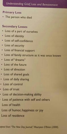 understanding the process of grieving...