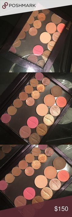 XL ZPalette includes All Shadows XL Z Palette Includes 11 Morphe (3 are Foiled)Shadows 2 Contour Shades 1 Highlight (very Creamy) Shade 7 Sephora Collection Single Shadows Total 21 Shadows Lightly Used Sephora Makeup Eyeshadow