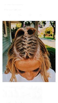 - Hair Styles For School Volleyball Hairstyles, Sporty Hairstyles, Cool Braid Hairstyles, Teen Hairstyles, Game Day Hair, Sport Hair, Pinterest Hair, Bad Hair, Hair Looks