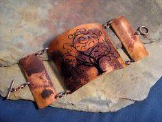 Celtic Druid Tree of Life Steampunk Copper Bracelet by Copperhead, $21.95