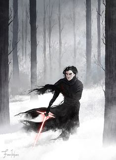 KIND OF SPOILERS KIND OF MAYBE!!! aaahhhhh only spoilers if you are out of the loop :U I watched Star Wars: The Force Awakens last Saturday! I like the black-haired poofy Kylo Ren with the angst an...