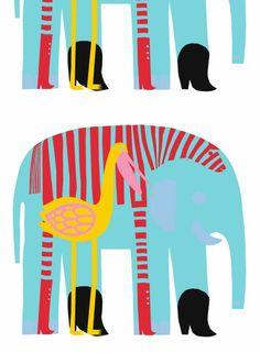marimekko elephant - Fabric I found in Berlin Red Fabric, Cotton Fabric, Decoupage, Elephant Fabric, Marimekko Fabric, Unique Toys, Textiles, Graphic Design Illustration, Machine Quilting