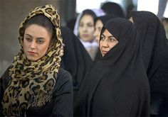 chador iran | young Iranian woman, left, with an older Iranian woman in Tehran ...