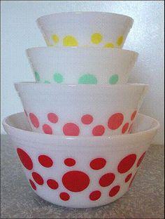 Polka Dot Mixing Bowl Set