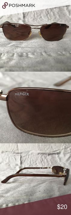 Tommy Hilfiger Sunglasses - Bronze/Copper Tommy Hilfiger Sunglasses with Copper Color Frame and Bronze Lenses. These are gently used and has a slight scratch on the left lense but does not affect your vision at all (see last picture). If you have any questions, dont hesitate to ask! Thank you for looking! Tommy Hilfiger Accessories Glasses