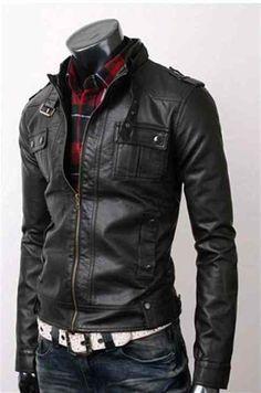 Mens black slim fit Leather Jacket, men biker leather jacket sold by Rangoli Collection. Men's Leather Jacket, Biker Leather, Leather Men, Black Leather, Cowhide Leather, Leather Jackets, Jacket Men, Faux Jacket, Green Jacket