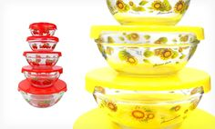 Floral pattern glass mixing bowls with lids. http://www.groupon.com/deals/gg-set-of-patterned-glass-mixing-bowls-with-lids