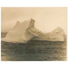 The iceberg that sunk Titanic to be featured at RR Auction live event... ❤ liked on Polyvore featuring backgrounds and titanic