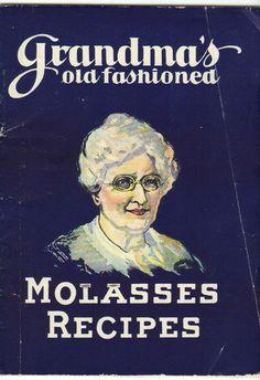 "ANTIQUE COOKBOOK ""GRANDMA'S MOLASSES RECIPES"" 1928 5 1/2 X 7 1/2"" 27 PGS."