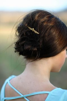 2 Gold Bee in Flight Bobby Pins Hair Pin Woodland by luxebuffalo