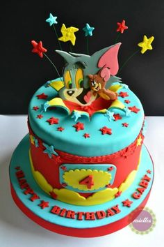 Tom & Jerry All-Star Birthday Cake - Cake by miettes