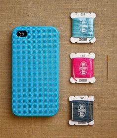 iPhone Cross Stitch Case---- brilliant, must get this