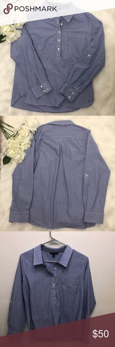Tommy Hilfiger Dress Shirt Description: Looks brand new. Blue and white strip with polka dots.  ⚠️I always look through each item throughly once received and right before shipping, but things can be missed. Just let me know, so I can improve.⚠️  Measurement: Length from back of shirt top to bottom is 26.5in Arm pit to arm pit is 20in  ⚠️all measurements are an estimate⚠️  🚫NO TRADES/NO HOLDS🚫  Please ask questions❓  💜Thank you for checking out my closet and don't be afraid to submit an…