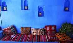 blue color, painting ideas, moroccan decor and home decorating in moroccan style