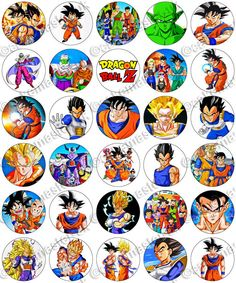 30 x Dragon Ball Z Party Edible Rice Wafer Paper Cup Cake Toppers in Crafts, Cake Decorating | eBay