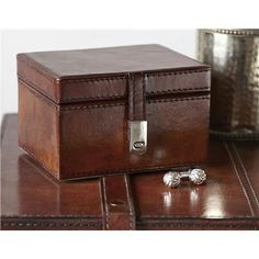 A leather stud box is a simple classic gift for men and boys, and best man gifts and wedding anniversaries 3rd Wedding Anniversary, Anniversary Gifts For Him, Leather Box, Leather Gifts, Personalized Gifts For Men, Christening Gifts, Beauty Room, Home Gifts, Home Accessories