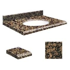 Transolid Baltic Brown Granite Undermount Single Sink Bathroom Vanity