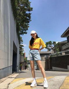 casual korean fashion 083 Source by murzagiibundin Outfits korean Korean Summer Outfits, Korean Casual Outfits, Korean Fashion Summer Casual, Korean Fashion Casual, Korean Fashion Trends, Korea Fashion, Asian Fashion, Casual Summer, Korean Fashion Street Style