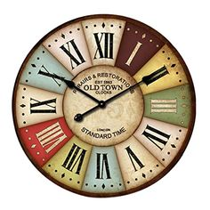 Lacaca European Style Vintage Creative Round Wood Wall Clock Quartz Bracket Clock E Lacaca http://www.amazon.co.uk/dp/B01AHV5N3U/ref=cm_sw_r_pi_dp_v.1Nwb0YZ8ZRM