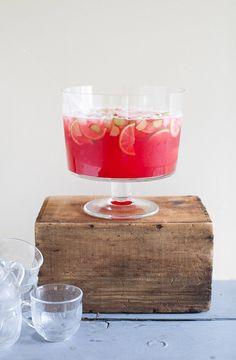 Raspberry Rhubarb Punch