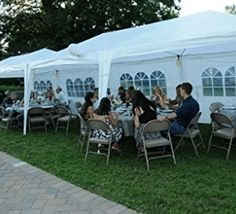 Quictent x Outdoor Gazebo Canopy Wedding Party Tent with 6 Removable Sidewall & Elegant Church Window