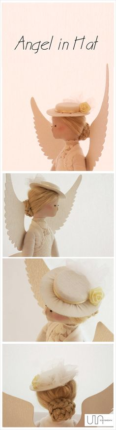 www.facebook.com/ula.design #angels #tilda #doll #wings #withangels #gift #handmade #sewing #hat