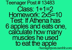 Teenager Posts #13483  Athena is a girl, but that's still: funny!