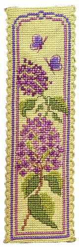 Lilac Time Bookmark Cross Stitch Kit By Textile Heritage