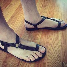 Cute Sandals, Men Sandals, Black Sandals, Gladiator Sandals, Leather Sandals, Leather Fashion, Leather Men, Thick Leather, Fashion Shoes