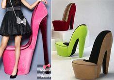 High Heeled Stiletto Shoe Chair