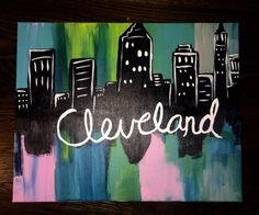 City/Town Scape by AnnZDormDecor on Etsy