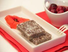 Mohn-Grießschnitte mit Vanille-Kirschkompott aus dem Dampfgarer